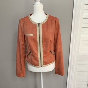 NWT The Limited Work Jacket Size S Orange/Tan